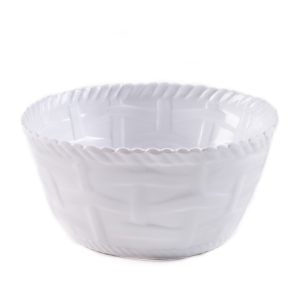 Woven Cereal/Dip Bowl-WH