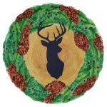 Timberline Stag/Wreath Platter