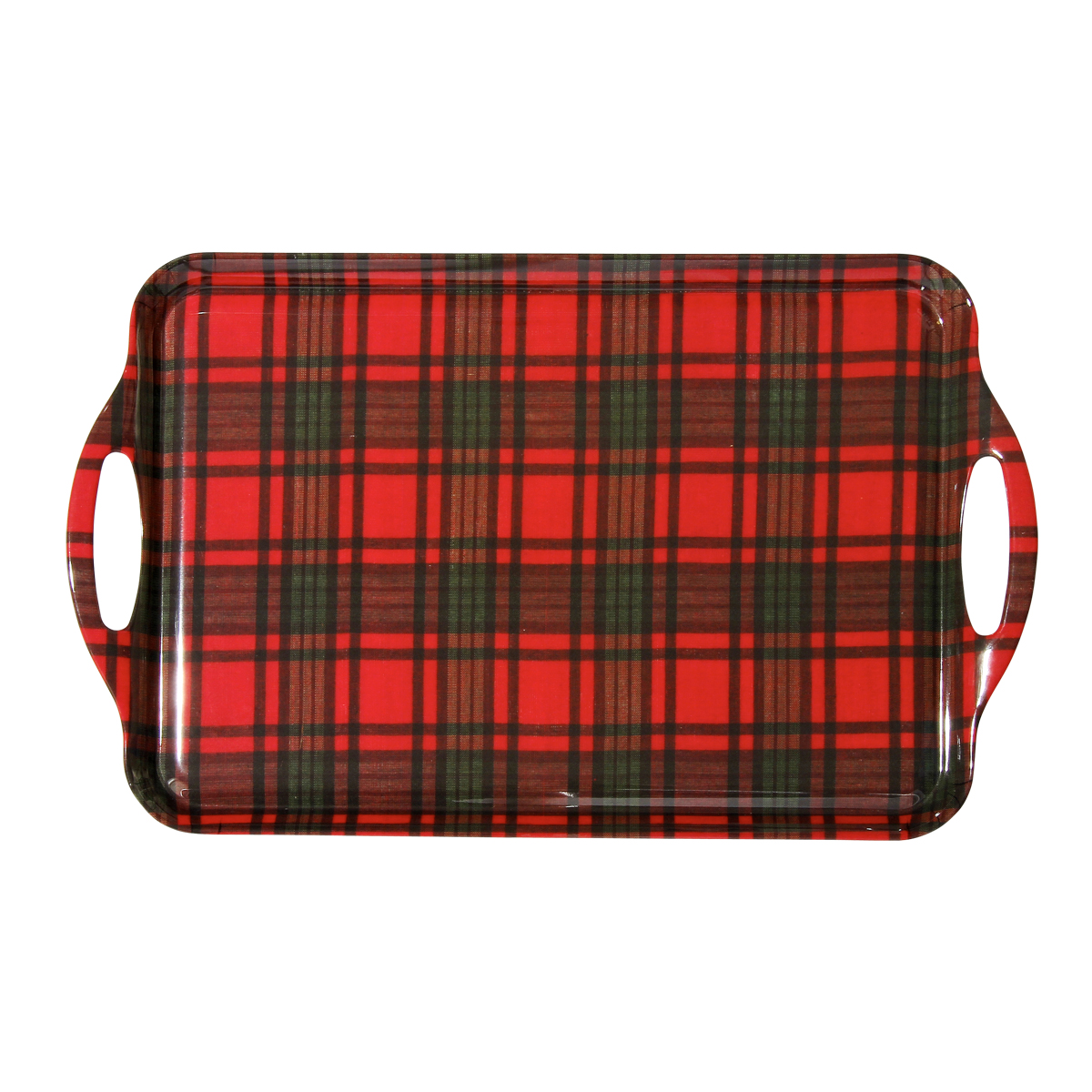 christmas plaid large tray encore concepts. Black Bedroom Furniture Sets. Home Design Ideas