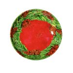 Christmas Wreath Shallow Bowl-RD