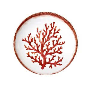 Swimmingly Coral Shallow Bowl