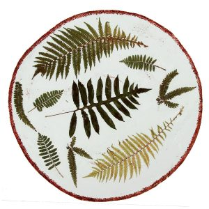 Botanicals Fern Leaf Shallow Bowl