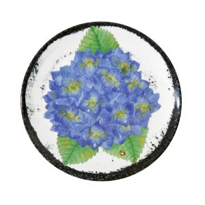 Botanicals Flower Salad Plates-Set of 4 Hydrangea