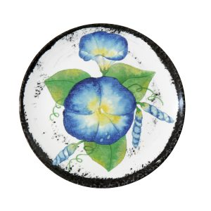 Botanicals Flower Salad Plates-Set of 4 Poppy