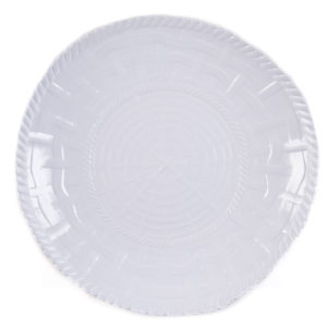 Woven Shallow Bowl-WH