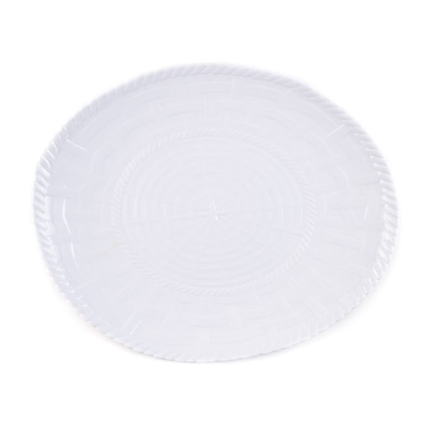 Woven Oval Platter-WH