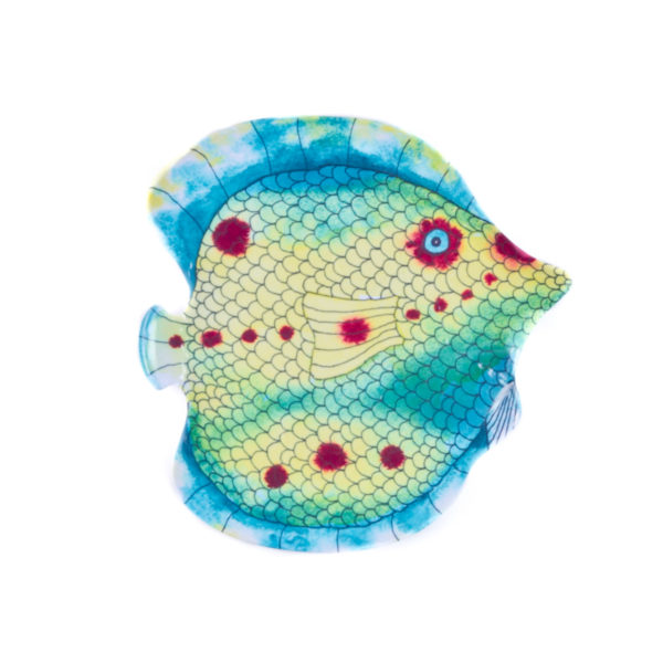 Swimmingly Fish Salad Plates-Set of 4 in Assorted Colors