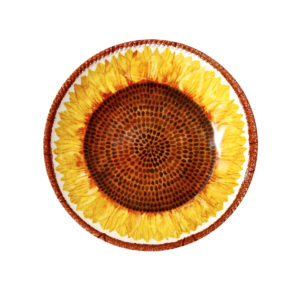 Botanicals Sunflower Shallow Bowl