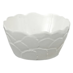 Botanical Galax Cereal/Dip Bowl-WH