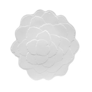 Botanical Galax Salad Plate-WH