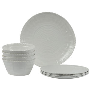 Woven Dinnerware-Set of 4-WH