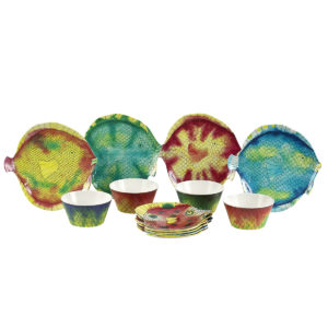 Swimmingly Dinnerware-Set of 4 in Matching Colors