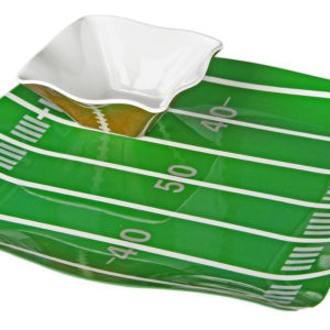 Sports Football Tray with 4 Dip Bowls